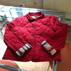 Burberry red Quilted Jacket nova plaid